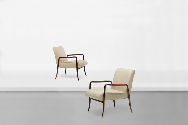 """, 'Pair of armchairs model """"Leve"""",' 1942, Side Gallery"""