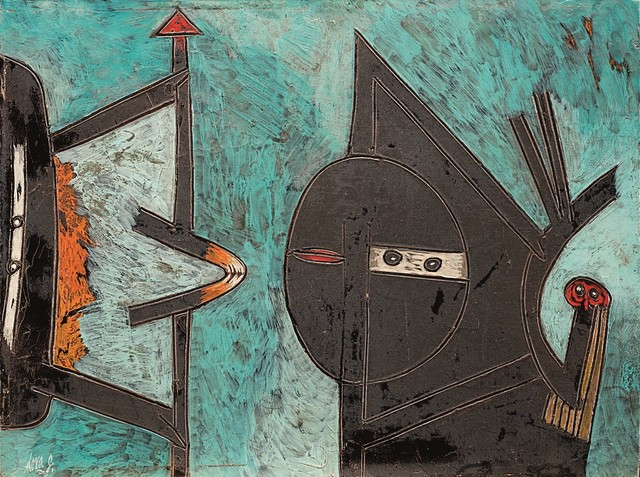 Gianni Dova, 'Uccelli', years 1960, Painting, Oil on canvas, Finarte