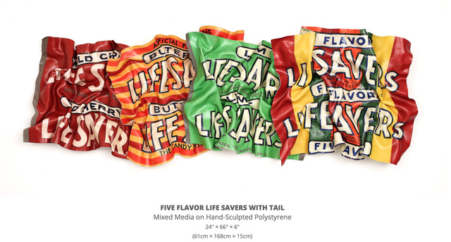 , 'Five Flavor Life Savers with Tail,' 2018, Lanoue Gallery