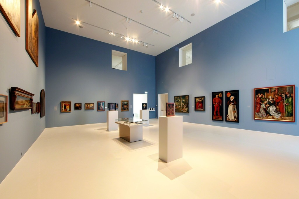 "Installation view of ""Holbein. Cranach. Grünewald: Masterpieces from the Kunstmuseum Basel""