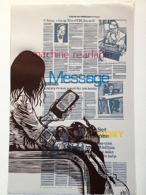 , 'Machine Readable: message, ereader,' 2014, Kala Art Institute