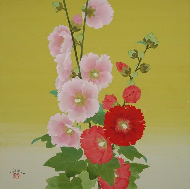 , 'Color of Hanaaoi (Hollyhocks),' 2018, SEIZAN Gallery