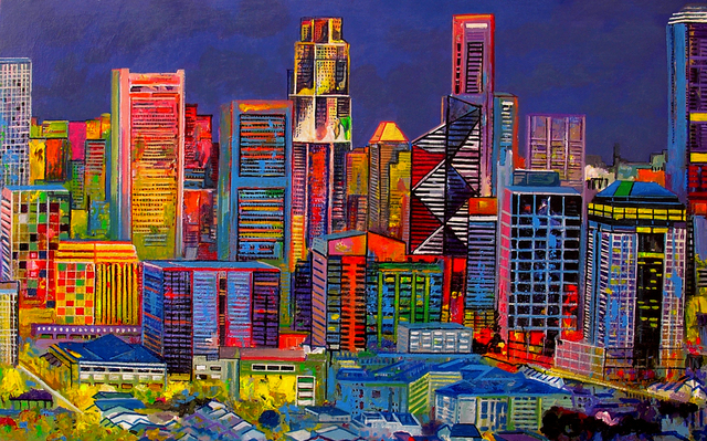 , 'Singapore Cubista,' 2014, Barnadas Huang
