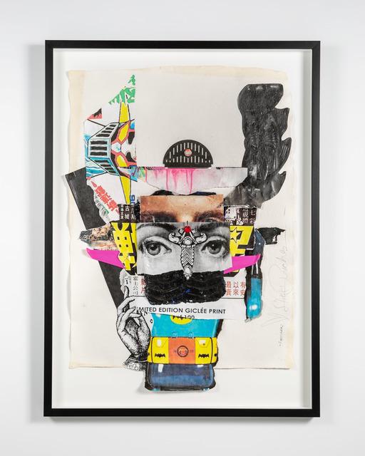 Stikki Peaches, 'Fornorak ', 2020, Mixed Media, Mixed media collage on handmade paper, S16 Gallery