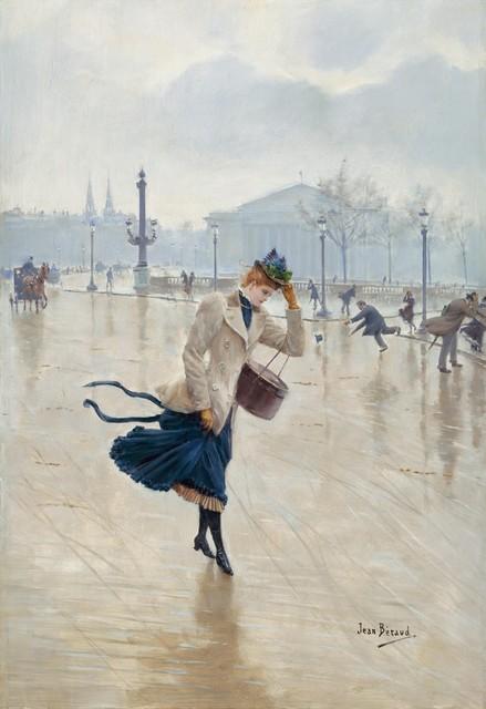 Jean Béraud | Windy Day, Place de la Concorde (ca. 1890) | Artsy