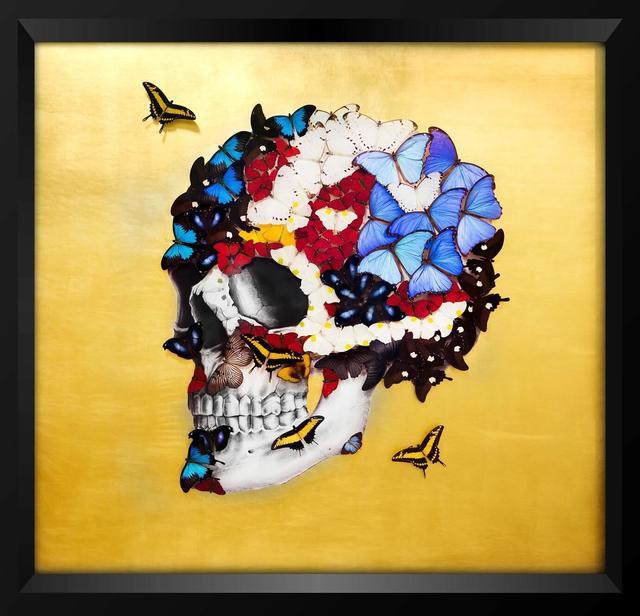 , 'PROFILE SKULL – GOLD,' , Eden Fine Art