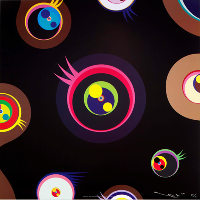 Takashi Murakami, 'Jellyfish Eyes - Black 1', 2004, IFAC Arts