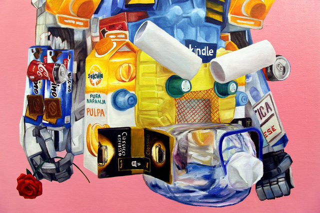 Nicolás Romero, 'Robot', 2020, Painting, Oil and acrylic on linen, Ochi Projects
