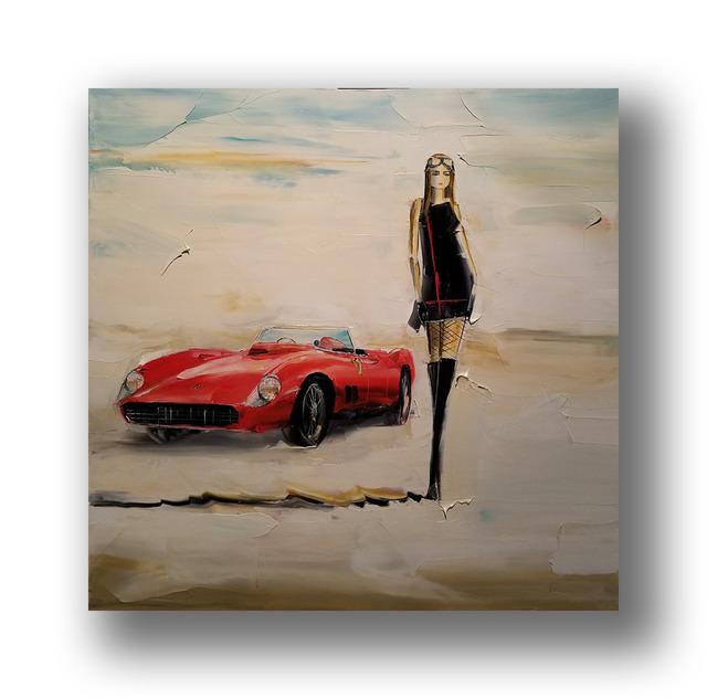 Chuck Joseph, 'Girl and Ferrari', 2020, Painting, Oil on Canvas, Animazing Gallery