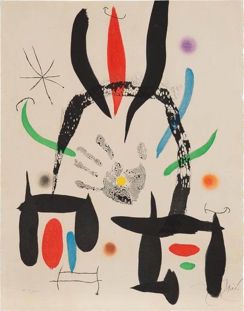 Joan Miró, 'L'Eloge de la main (The Praise of the Hand)', 1974, Phillips