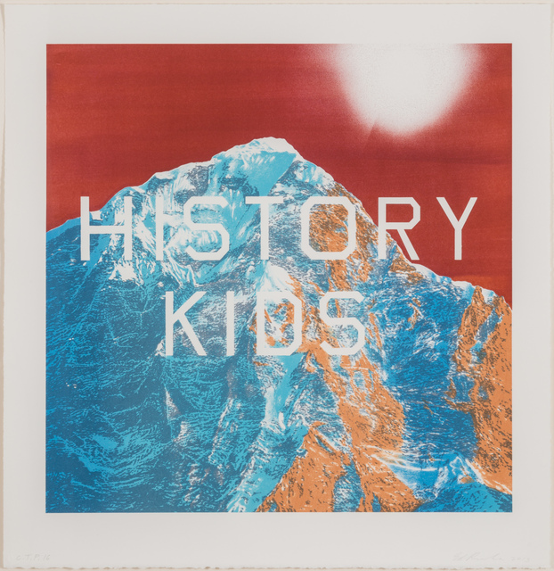Ed Ruscha, 'History Kids', 2013, Print, Eight-color lithograph, Various Small Fires