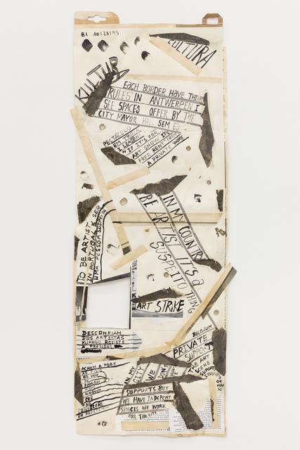 """, '""""Comer papel mastigado - o desejo de compreender o velho continente para cuspir a sua história / Eating chewed paper - the desire to understand the old continent to spit its story"""" Untitled 20,' 2014, Múrias Centeno"""