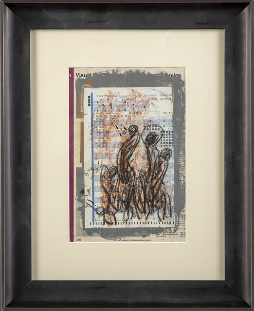 Purvis Young, 'Purvis Young Original Crayon Drawing on Standardized Test Paper Contemporary Art', 1970-2010, Modern Artifact