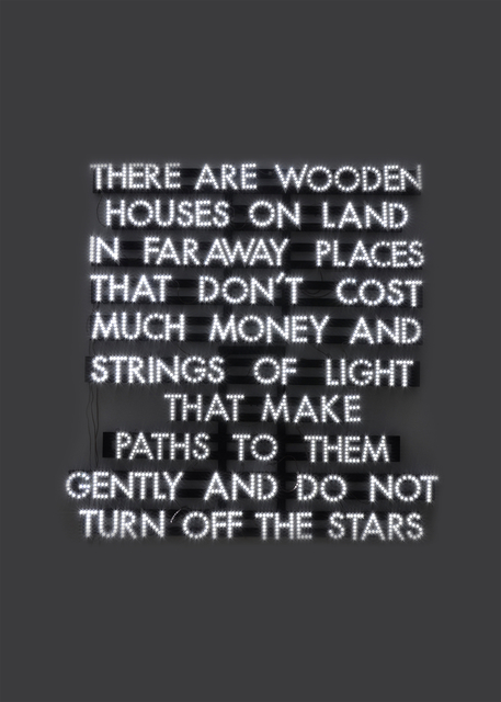 Robert Montgomery, 'Wooden Houses on Land', 2013, The Norwood Club—Observations: A Digital Life
