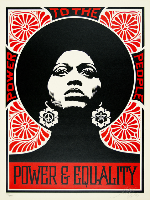 Shepard Fairey, 'Afrocentric (Red)', 2007, Print, Screenprint on paper, Heather James Fine Art Gallery Auction