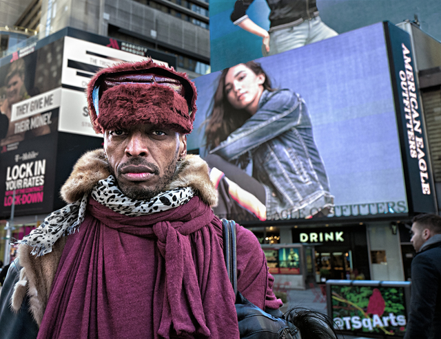 , 'Fur Collared Man, Times Sq.,' , Soho Photo Gallery
