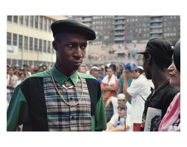 Lisa Leone, 'Grandmaster Flash at Rock Steady Park (West 98th Street and Amsterdam Avenue), New York City', 1991, Photography, Pigment print, HVW8 Art + Design Gallery