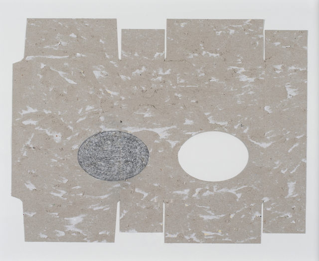, 'Carton gratté (ovales),' 2014, Galerie Laurence Bernard