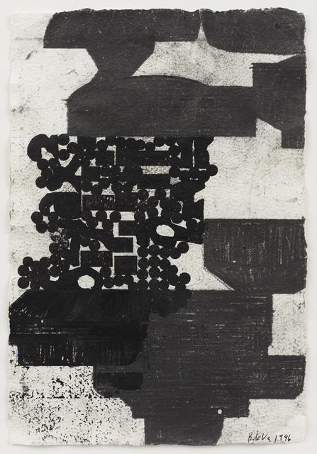 Barry Le Va, 'Bunker Coagulation', 1996, Drawing, Collage or other Work on Paper, Ink and graphite on paper, David Nolan Gallery