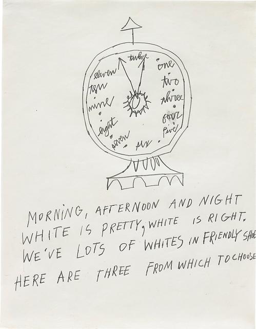 Andy Warhol, 'Clock', 1953, Phillips