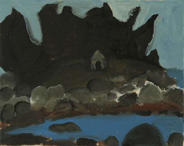 , 'Trees and House on Rocks in Maine,' 2014, Sears-Peyton Gallery
