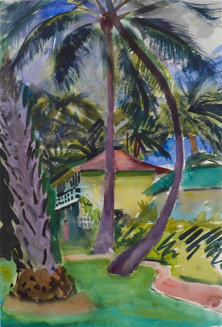 Charles Hopkinson, 'Courtyard, Honolulu', 19th -20th Century, Vose Galleries