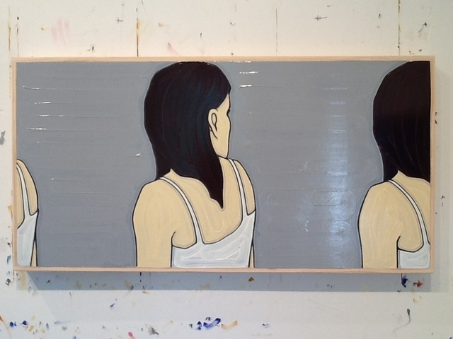 Jeffrey Palladini, 'Earlier, Before & Before That', 2014, Painting, Oil & Charcoal on Wood, Corridor Contemporary
