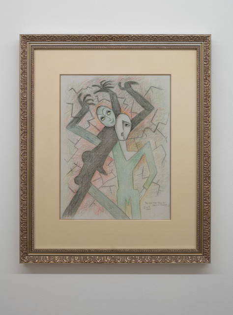 Beatrice Wood, 'The Man Who Could Not Control Himself', 1990, Drawing, Collage or other Work on Paper, Graphite and colored pencil on paper, Nina Johnson