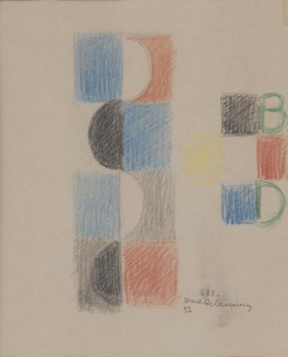 Sonia Delaunay, 'Projet pour livre d'enfant - Rythme sans fin', 1952, Leclere