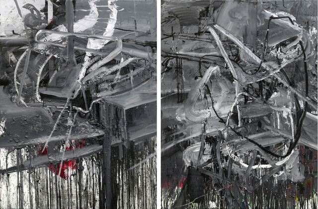 , 'Diptych (Untitled #1519808+159708),' 2015, Galerie Kornfeld