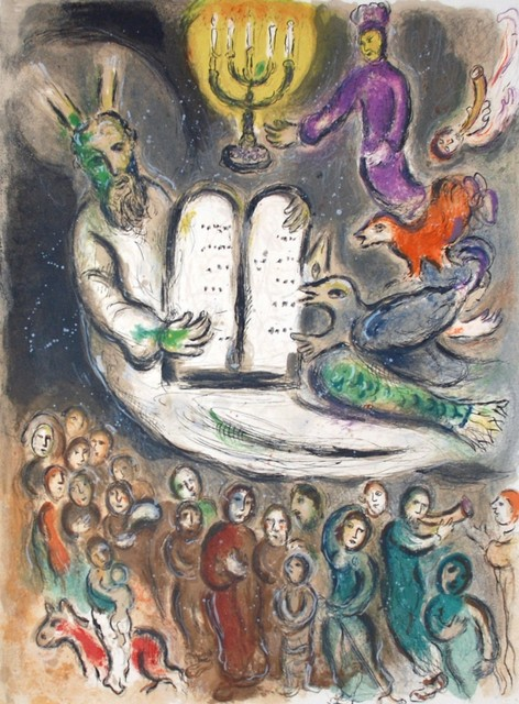 Marc Chagall, 'Moses Shows the Elders the Tablets of the Law', 1966, Georgetown Frame Shoppe