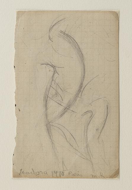 Morgan Russell, 'Isadora Duncan dansant (recto); Etude de mouvement (verso)', Leclere