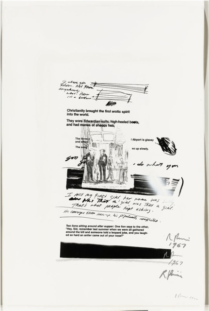 Richard Prince, 'Untitled', ca. 1984, Drawing, Collage or other Work on Paper, Silkscreen, graphite, and spray paint on paper, Rosenfeld Gallery LLC
