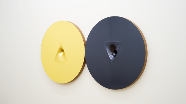 Sinisa Kukec, 'TWOINTHEBUSH (Finance is gold silver is silence) ', 2016, Mixed Media, Acrylic mirror, Walnut, mix media, Spinello Projects
