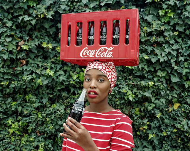 , 'Black Coca-Cola Series - Pin up,' 2015, Christopher Moller Gallery