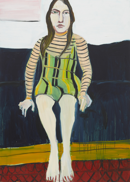 Chantal Joffe, 'Esme on the Blue Sofa II', 2018, Victoria Miro