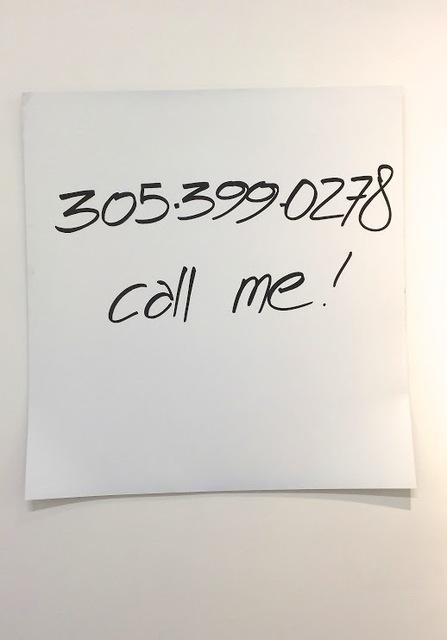 , 'Call Me!,' 2015, Galleria Ca' d'Oro