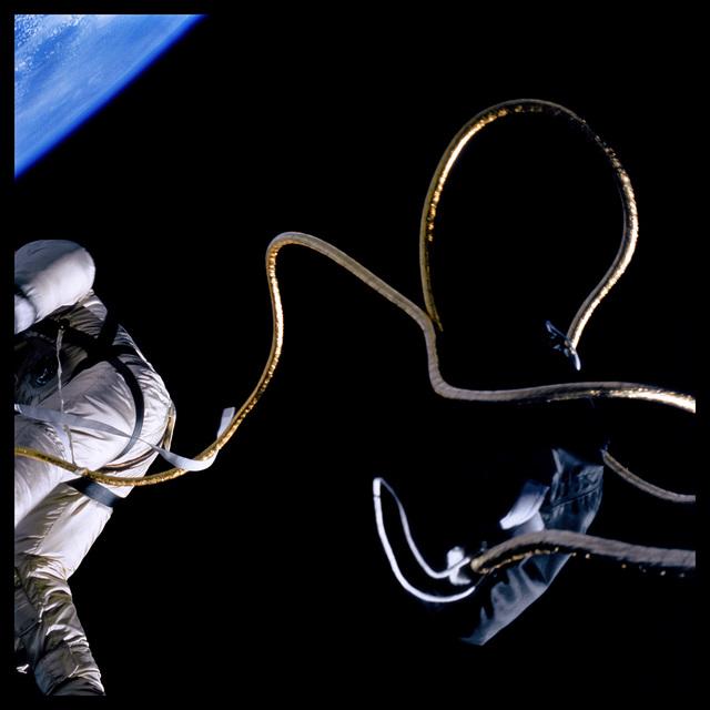 Michael Light, '012 Edward White Spacewalking Above the Texas Coastline; Photographed by James McDivitt, Gemini 4, June 3, 1965', 1999, Danziger Gallery