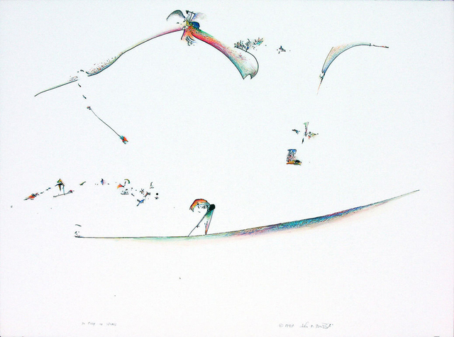 John Dowell, 'To Fish in Stone', 1987, Painting, Watercolor on paper, Stanek Gallery
