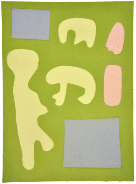, 'Untitled (shapes on green),' 2014, Fleisher/Ollman