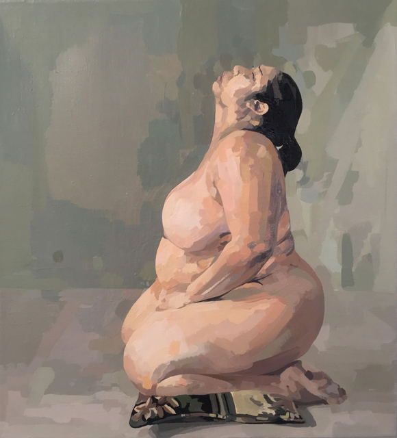 Ingrid Capozzoli Flinn, 'Nude on Pillow in Profile', 2008, Gallery at Zhou B Art Center