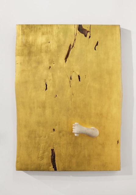 , '2_Estate - evoluzione (oro e braccio) / 2_Summer - evolution (gold and harm),' 2017, Lia Rumma