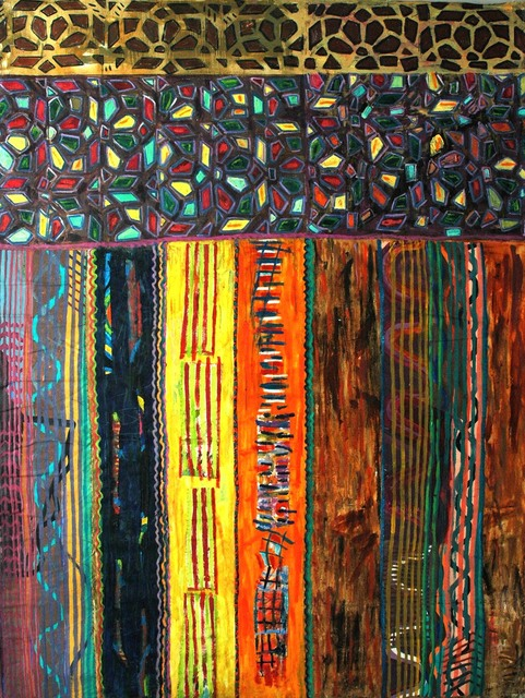 , 'Stained glass door in Sanaa,' 1998, Pacita Abad Art Estate