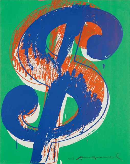Andy Warhol, '$ (1)', 1982, Print, Unique screenprint in colors, on Lenox Museum board, the full sheet., Phillips