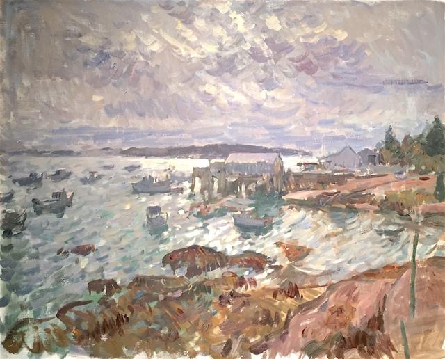 , 'Overcast Harbor, Stonington,' 2016, Grenning Gallery