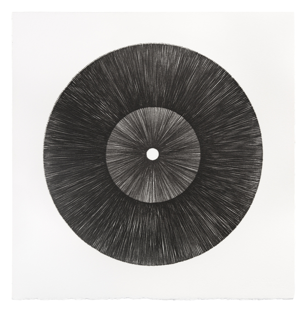 Mel Douglas, 'FIELD LINES IV', 2021, Drawing, Collage or other Work on Paper, Glass drawing on paper, Traver Gallery