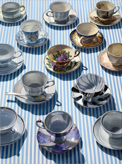 Sherrie Wolf, 'Pinstripe Teacups', 2019, Russo Lee Gallery