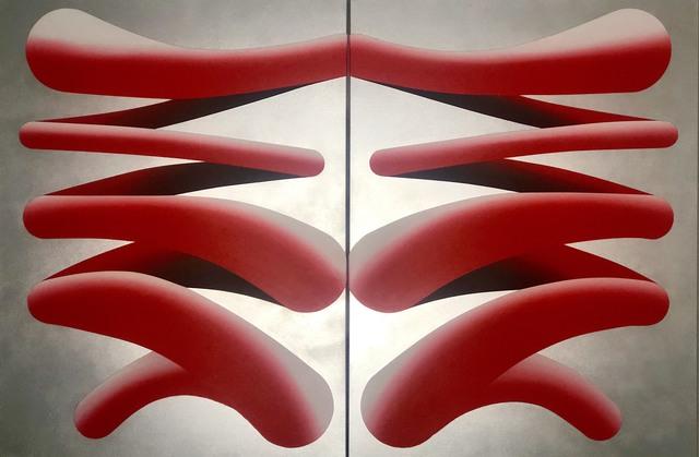 Cam Edward, 'Swipe Left, Swipe Right', 2019, Painting, Acrylic, metallic spray paint, Black Door Gallery