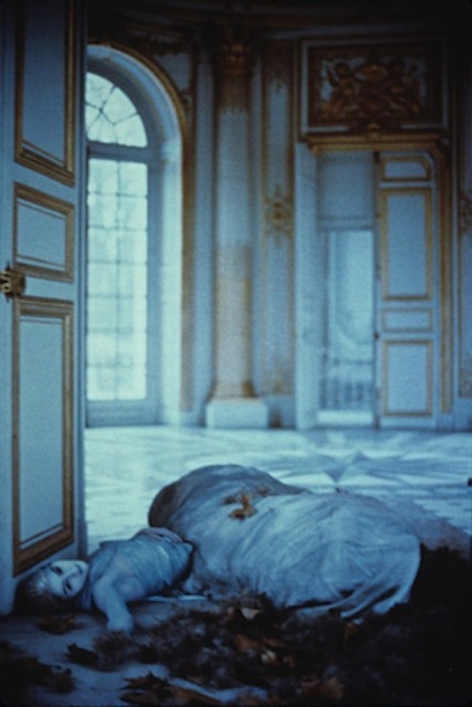 Deborah Turbeville, 'Autumn leaves inside the Pavillon Francais: Aurelia Weingarten, Unseen Versailles', 1980, Staley-Wise Gallery