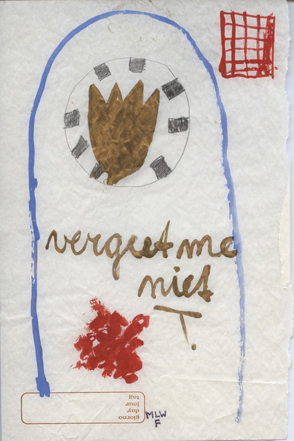 , 'Don't forget me,' 1985, Ornis A. Gallery